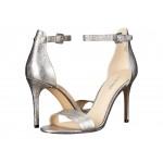 Mana Stiletto Heel Sandal Pewter Metallic