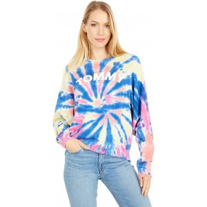 Tommy Hilfiger Tie-Dye Logo Sweatshirt Sunshine Multi
