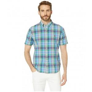 Classic Fit Madras Shirt Azure/Green Multi