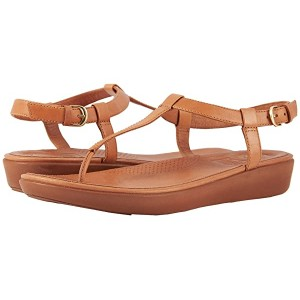 FitFlop Tia Toe Thong Sandals Caramel