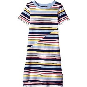 Multi Stripe Dress (Big Kids) Flag Blue