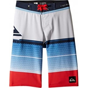 Highline Slab Boardshorts (Big Kids) White