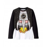 Stella McCartney Kids Space Shuttle Long Sleeve T-Shirt (Toddleru002FLittle Kidsu002FBig Kids) Black