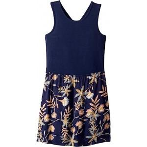 Inspire Life Skater Dress (Big Kids) Dress Blues Birds Flower Youth