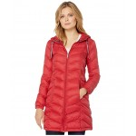 35 Chevron Hooded Packable Crimson