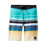 Everyday Stripe Vee Boardshorts (Big Kids) Pool Blue