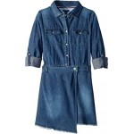 Denim Wrap Dress (Big Kids)