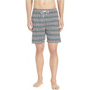 Tribe Stripes Swim Shorts Pink Coral