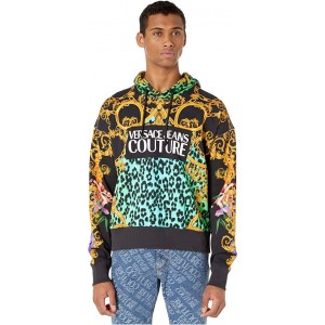 Versace Jeans Couture Leo Chain Print Hooded Sweatshirt Pure Mint