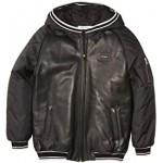 Leather and Nylon Jacket with Hood (Big Kids)
