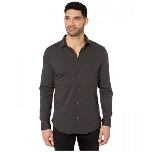 Long Sleeve French Placket Pigment Dye Stretch Shirt