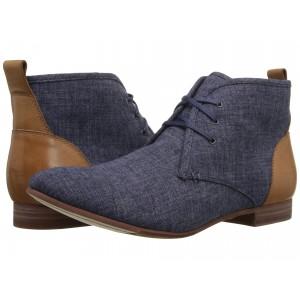 Hutton Chukka Navy Linen/Tan Leather
