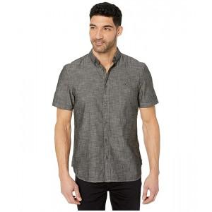 Short Sleeve Woven Cotton Chambray
