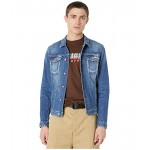 DSQUARED2 Medium Wash Dan Jean Jacket Blue