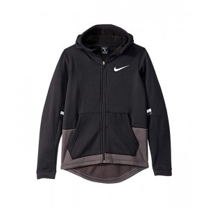 Nike Kids Therma Elite Full Zip Hoodie (Little Kidsu002FBig Kids) Black/Thunder Grey/White/White