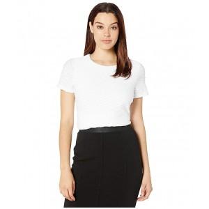 Short Sleeve Textured Knit White