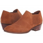 Suede Ankle Bootie Saddle