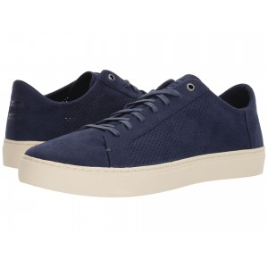 Lenox Navy Perforated Synthetic Suede