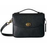 Polished Pebbled Leather Cassie Crossbody