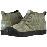 TOMS Botas Indio Dusty Olive Distressed Printed Canvas
