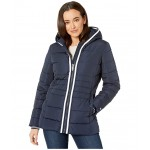 26.5 Hooded Puffer w/ Contrast Zip Navy