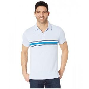 Three-Button Chest Stripe Polo