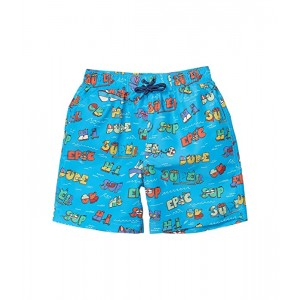 Stella McCartney Kids Super Dude Swim Shorts (Toddleru002FLittle Kidsu002FBig Kids) Blue