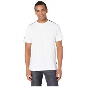 Short Sleeve Kenneth Cole Logo Tape Crew Tee White