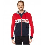 Polo Ralph Lauren Color Block Americana Double Knit Tech Hoodie RL 2000 Red Multi