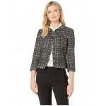 Tweed Kiss Front Jacket Black Multi