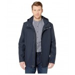 Button Front Water Resistant Jacket Navy