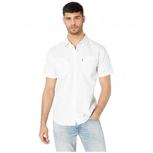 Nevin Short Sleeve Denim Shirt White