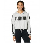 Rebel Reload Cropped Hoodie Light Gray Heather