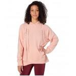 NSW Essential Hoodie Fleece Tie Echo Pink/White