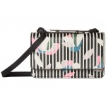 Mila Mini Bag Black Stripe Floral
