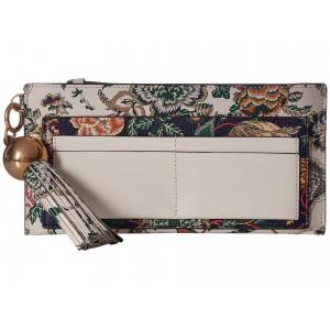 Floral Tassel Top Zip Wallet Ivory Happy Times