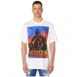 Dyed Mountain Slouch Fit T-Shirt White
