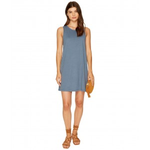 Just Simple Solid Tank Dress Chine Blue