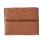 Roger Coin Pocket Bifold Wallet Cognac