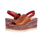 Tory Burch Miranda 90 mm Espadrille Wedge Ambra/Brilliant Red