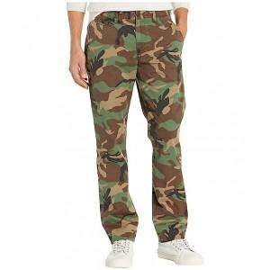 Stretch Chino Pants - Straight Green Camo