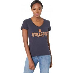 Champion College Syracuse Orange University V-Neck Tee Navy 2