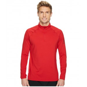 Poly Blend 1/4 Zip Excellent Red