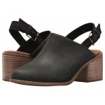 Leila Slingback Black Leather