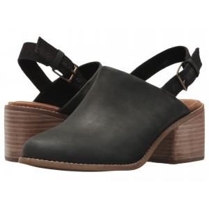 Leila Slingback Black Leather