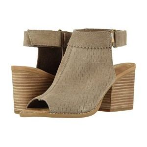 TOMS Grenada Taupe Gray Suede/Perf