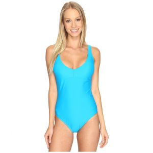 Strappy One-Piece Peacock Blue