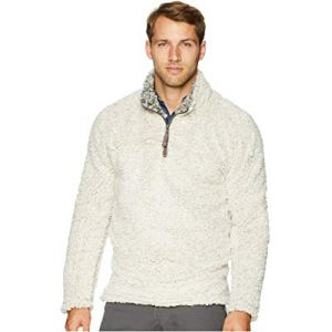 Frosty Tipped Pile 1/4 Zip Pullover Oatmeal