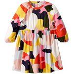 Long Sleeve Color Block Viscose Dress (Toddler/Little Kids/Big Kids)