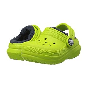 Classic Lined Clog (Toddler/Little Kid) Volt Green/Navy